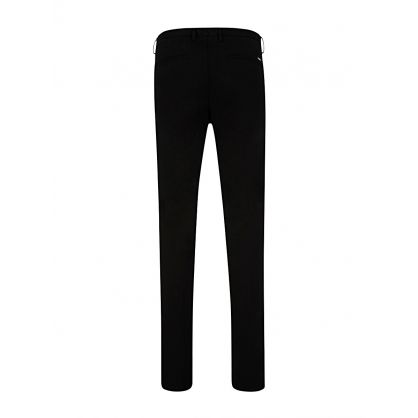 Black Business Slim-Fit Rice Trousers