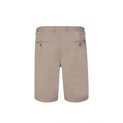 Beige Logo Slice Shorts