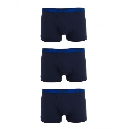 Navy  Stretch Cotton Trunks 3-Pack