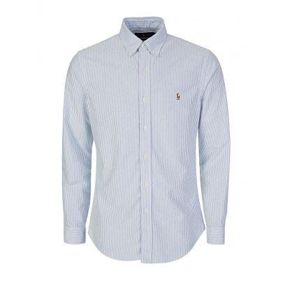 Sky Blue Slim-Fit Oxford Shirt
