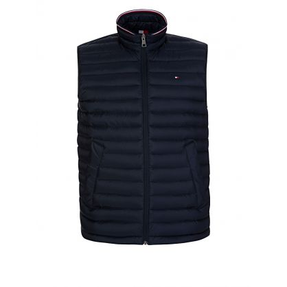 Navy Packable Down-Filled Gilet