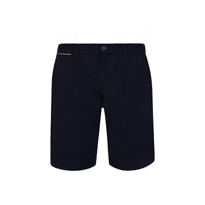 Navy Brooklyn Cotton Twill Shorts