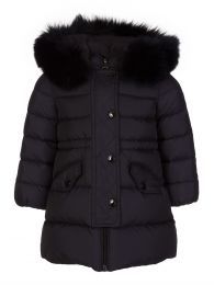 Navy Down Padded Coat