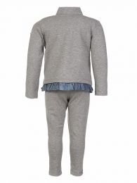 Grey Frill Tracksuit Set