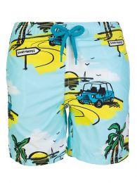 Junior Blue Sunny Car Swim Shorts