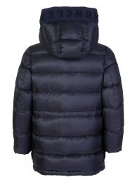 Navy Jourdan Hooded Puffa Coat