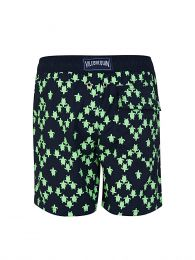 Junior Navy Stretch Squad Turtles Swim Shorts