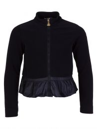 Navy Fleece Zip Cardigan