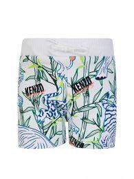 White Disco Jungle Shorts