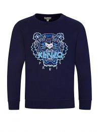 Navy Embroidered Tiger Sweatshirt