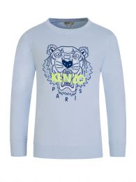 Blue Tiger Cotton Sweatshirt