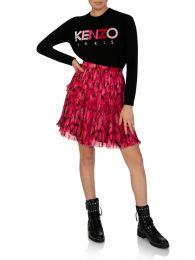 Fuschia Peonie Pleated Mini Skirt