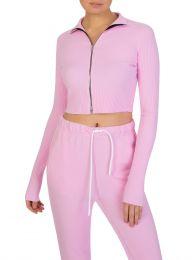 Pink Ibiza Zip Top