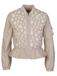 Beige Floral Frill Jacket