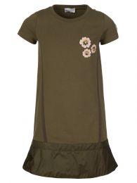 Green Flower Frill Dress
