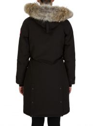 Black Kensington Parka Coat