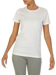 Cream Short-Sleeve Cotton T-Shirt