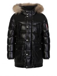 Black Loupmont Down Padded Coat