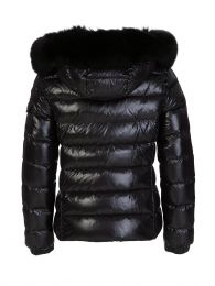 Black Hooded Fur Coat