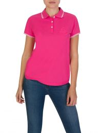 Pink Tipped Logo Polo Shirt