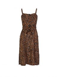Brown Golden Leopard Evie Midi-Length Dress