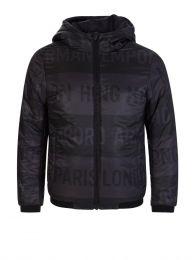Black Reversible Hooded Jacket