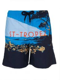 Junior Navy St Tropez Swim Shorts