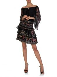 Black Restless Nights Layered Skirt