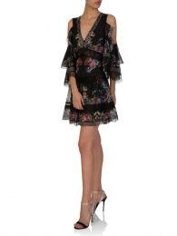 Black Restless Nights Cold Shoulder Dress
