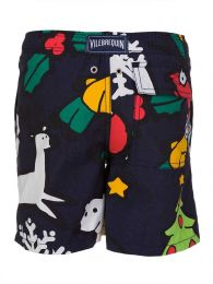 Junior Navy Christmas Swim Shorts