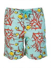 Junior Turquoise Coral Fish Swim Shorts