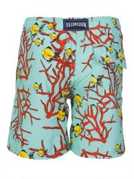 Turquoise Coral Fish Swim Shorts