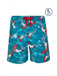 Junior Blue Snowboard Bunny Swim Shorts