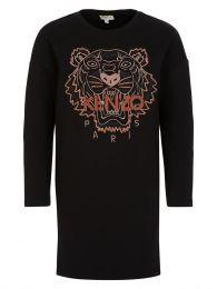 Black Tiger Sweatshirt Dress