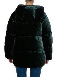 Green Velvet Down Butor Jacket