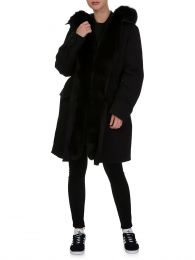 Black Hypolais Parka Coat