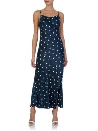 Navy Akami Polka Dot Midi Dress
