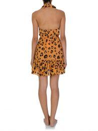 Orange Leilani Leopard Mini Dress