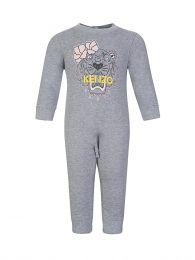Baby  Grey Tiger Logo Romper Suit