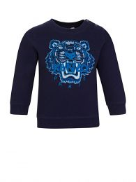 Baby  Navy Tiger Head Sweatshirt
