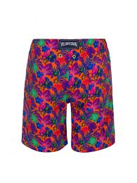 Junior Orange Floral Swim Shorts