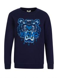 Navy Tiger Head Sweatshirt