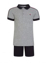 Grey Polo Shirt Set