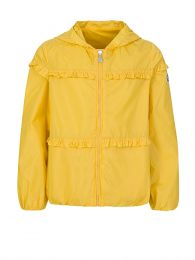 Yellow Hooded Ruffle Jacket