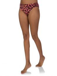 Pink Leopard Print Bikini Bottoms