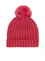 Pink Berretto Bobble Hat
