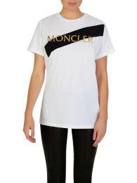 White Oblique Stripe T-Shirt