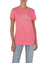 Pink Girocollo Logo T-Shirt