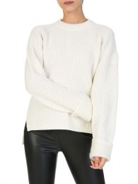 Cream Foldover Cuff Jumper