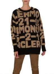 Black/Brown Maglione Tricot Jumper
